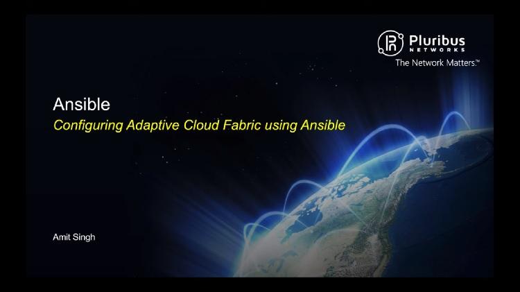 Configuring Adaptive Cloud Fabric using Ansible
