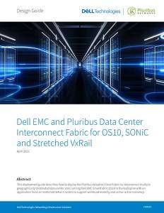 DCI Guide for OS10, SONiC Stretched VxRail