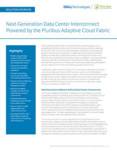 Next-Generation Data Center Interconnect Powered by the Pluribus Adaptive Cloud Fabric