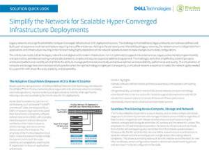Simplify the Network for Scalable Hyper-Converged Infrastructure Deployments