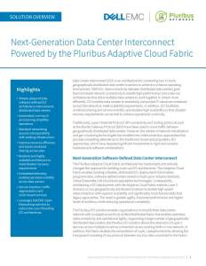 Next-Generation DCI Powered by the Pluribus Adaptive Cloud Fabric
