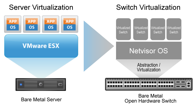 Diagram - Netvisor ONE - Network Virtualization Bare Metal Switch