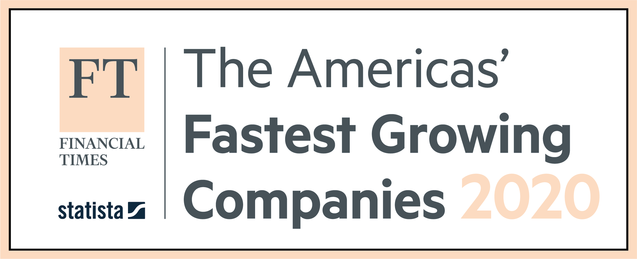 Financial Times and Statista: The Americas' Fastest Growing Companies 2020