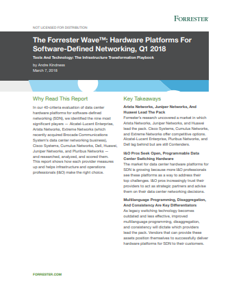 Forrester Wave: Hardware Platforms For Software-Defined Networking