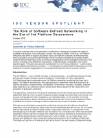 IDC Vendor Spotlight - Pluribus Networks SDN Role