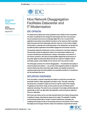 IDC: How Network Disaggregation Facilitates Datacenter and IT Modernization