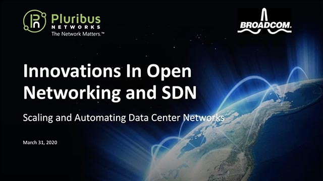Innovations in Open Networking and SDN - webinar