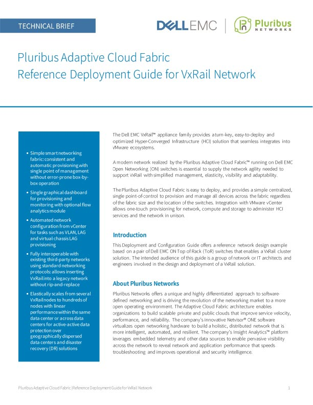 Reference Deployment Guide for VxRail Hyper-Converged Infrastructure