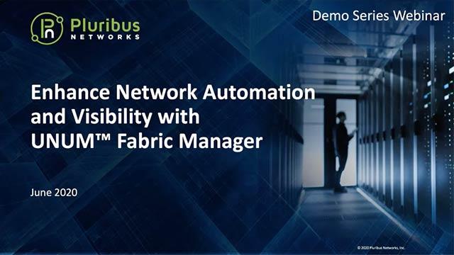 Pluribus Demo Series Webinar: UNUM Fabric Manager