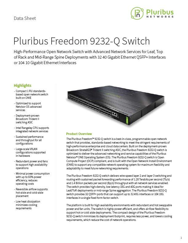 Pluribus Freedom 9232-Q Switch