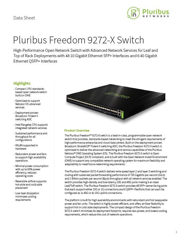 Pluribus Freedom 9272-X Switch
