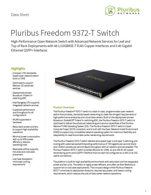 Pluribus Freedom 9372-T Switch