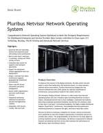 Pluribus Netvisor Network Operating System Data Sheet