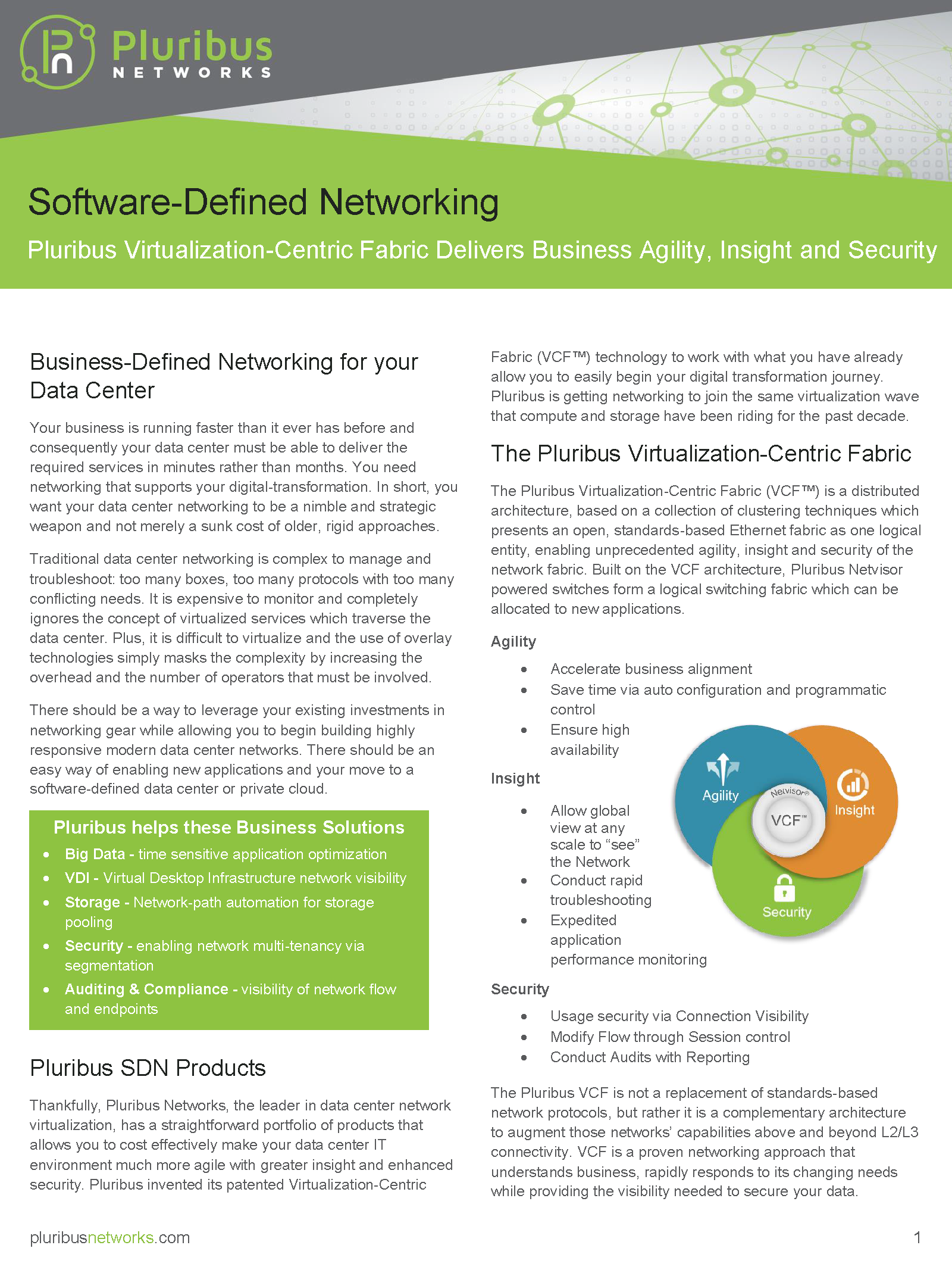 Pluribus Networks Product Brief - thumb