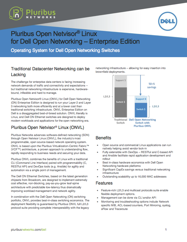 ONVL Dell Enterprise Edition Data Sheet Thumbnail