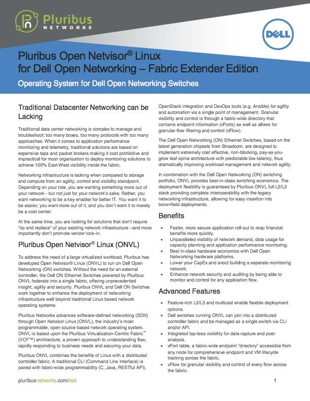 ONVL Dell Fabric Extender Edition Data Sheet Thumbail