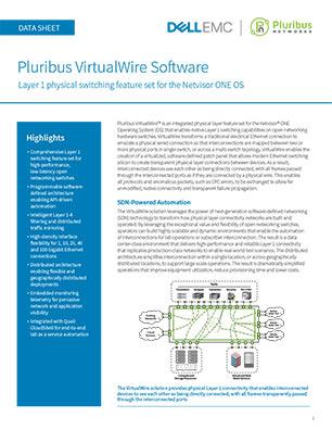 Pluribus VirtualWire Software Data Sheet (DELL EMC)