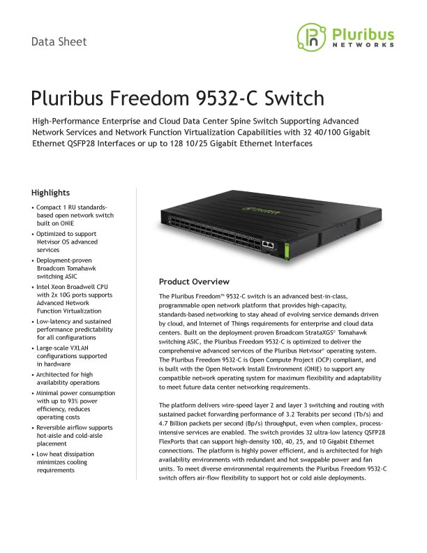 Pluribus Freedom 9532-C Switch