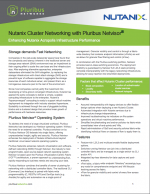Nutanix Cluster Networking with Pluribus Netvisor