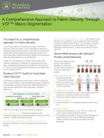 Macro-Segmentation for Security Solution Brief