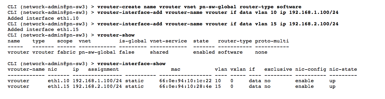 Creating vRouters