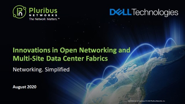 Innovations in Open Networking and Multi-Site Data Center Fabrics